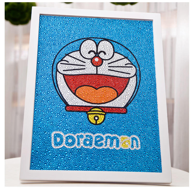 30*40cm 5D Full Diamond Painting Canvas Set Children DIY Toys Birthday Gift With Frame