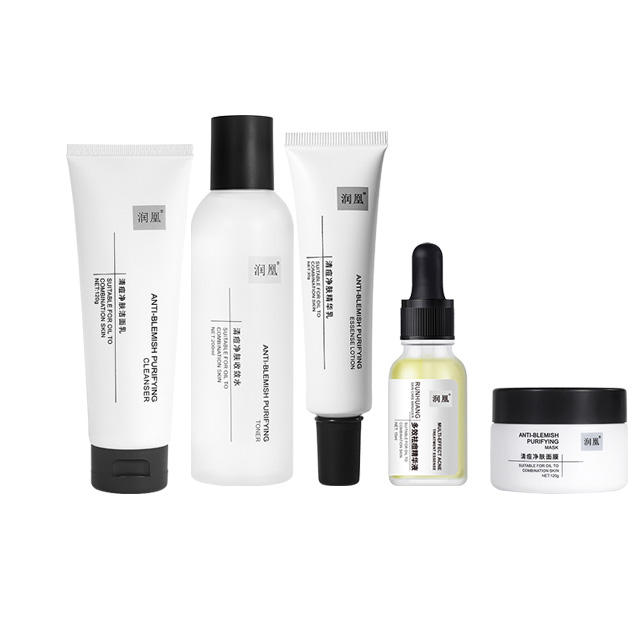 Private label <span class=keywords><strong>reise</strong></span> gesichts kit anti gesicht akne behandlung fettige serum cremes hautpflege geschenk feuchtigkeitsspendende feuchtigkeitsspendende hautpflege set