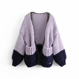 Various Styles Hand Made Wool Sweaters Thick Woolen Women High Collar Sweater