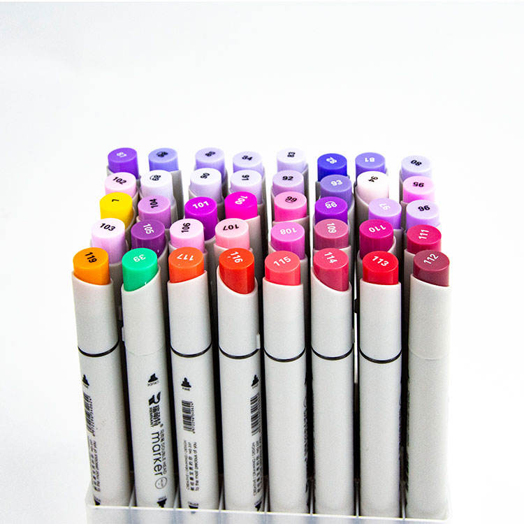 Max 200 COLORS smooth art dual tip double heads ended twin marker pen manga sketch drawing painting alcohol based marker pen