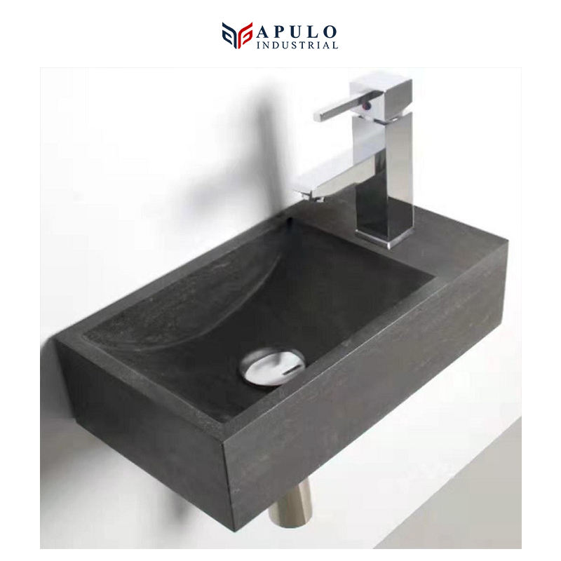 Emperador marble small sink solid surface wall mount wash basin bathroom hung mounted sink washbasin