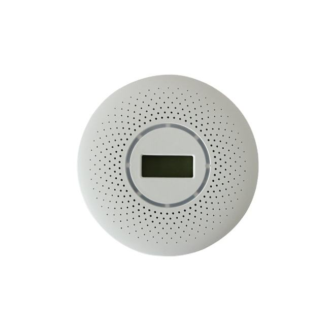 Personal plastic cover housing photoelectric stand alone and ionization smoke fire detectors alarm sensor function with alarm