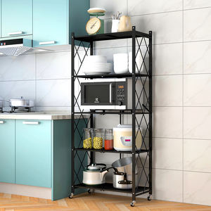 New design hot sell folding metal shelf home use foldable storage shelf rack