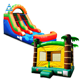 Combination promotion Rainbow Wet/Dry Slide Bounce House Inflatable With Blowers