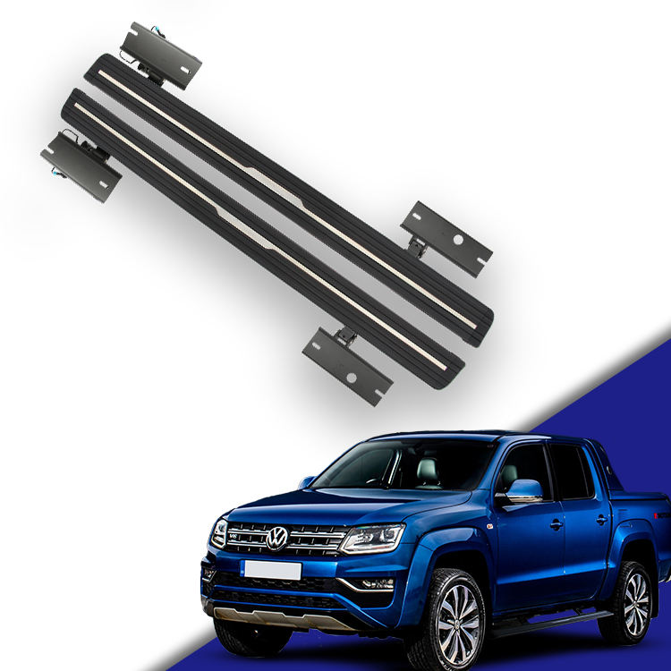 With Volkswagen Amarok Accesorios Electric Running Boards Side Step For vw Amarok v6 2014 2017 2019 4x4 Accessories