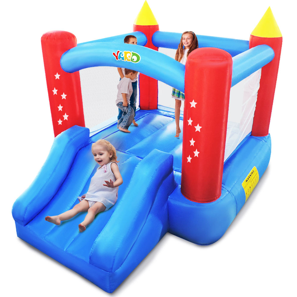 YARD Mini Home Use Bounce House Inflatable Bouncer Kid Trampoline with Blower