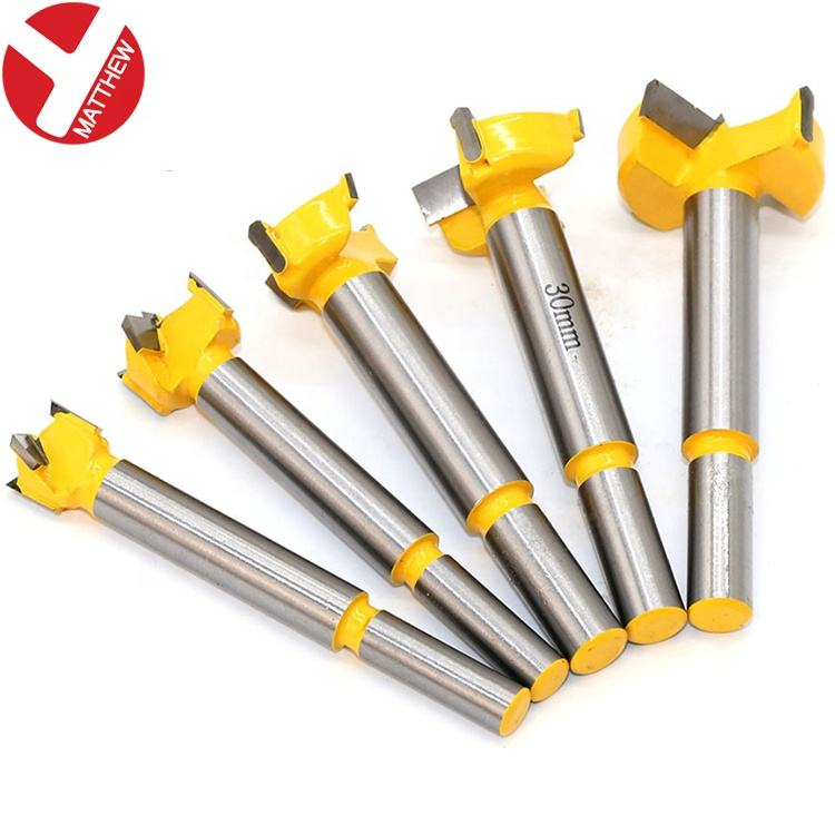 5pcs Woodworking Hole Cutting Tool Router Forstner Bits set with 10mm Round Shank