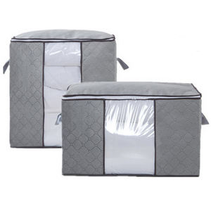 400104 Foldable non woven 90L Large Capacity zipper Clothes Storage Bag Organizer OEM with Reinforced Handle Thick Fabric