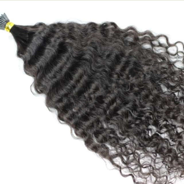 Microlinks Afro Kinky Curly micro links human itip Hair Extension For Black Women Raw indian Hair i stick tip