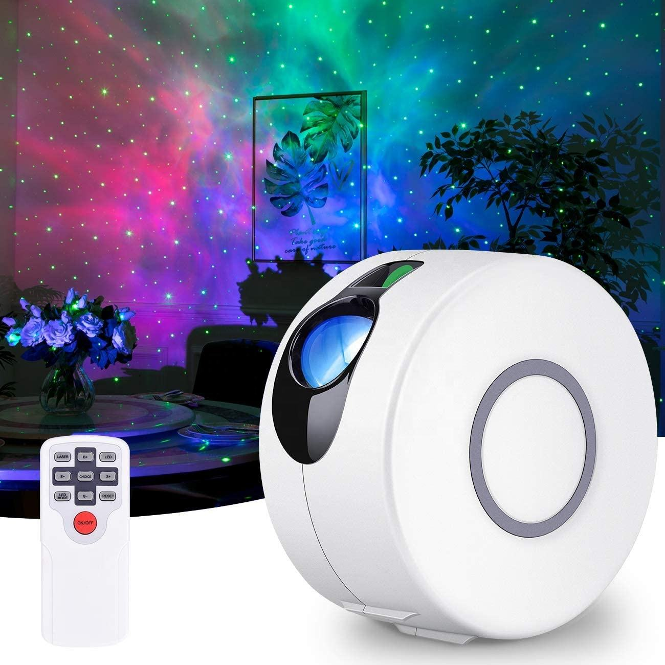 Biumart New Laser Galaxy Lamp Projector Nebula Cloud Room Projector Light for Game Rooms Home Theatre and Night Light Ambiance