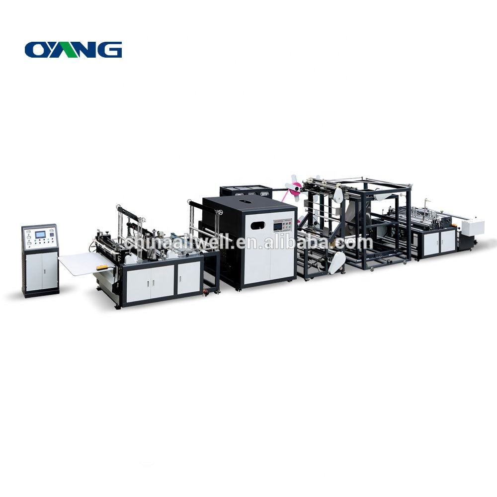 ONL-XC800 Non Woven Bag Making Auto Machine, 3 in 1 Flat Mouth Grocery Bag Making Machine, T-shirt Bag Making Machine