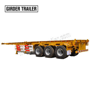 Widely used 3 axles 20 feet chssis tilt box shipping container food skeleton semi trailer for sale