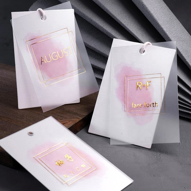 Factory Direct Sales Free Design Garment Customized Clothing Logo Label Hang Tags For Clothing