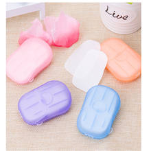 Outdoor Business Trip Travel 20pcs Disposable Hand Washing Tablet Travel Carry Toilet Soap Paper