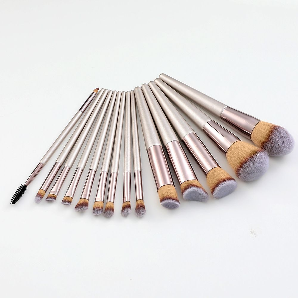 Nieuwe 14 Champagne Goud Marmer Makeup Tools Brush Set Cosmetische Ei Tool Stichting Tool Opbergtas