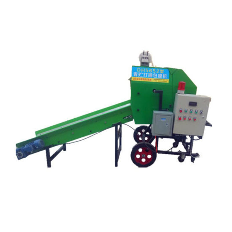 Farm use straw baling silage wrapping mini round hay baler machine