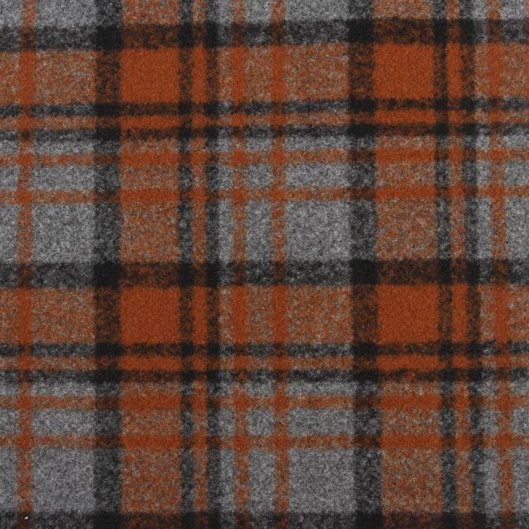Soft felt textiles woolen plaid material price 100% polyester fabric for uniform