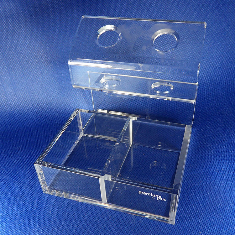Fabriek Aangepaste Clear Acryl Box Cosmetica Make-Up Display Stand