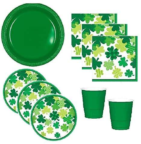 Wholesale Good Quality New Designs 24 Guests Happy St. Patrick Day Party Tableware For Party Event Decoration