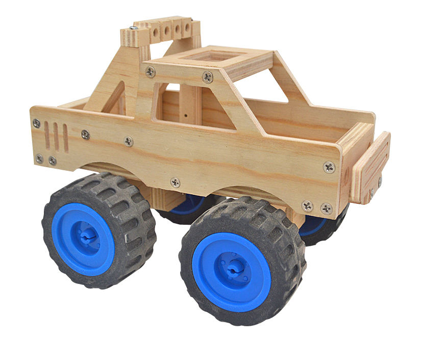 Educational DIY Wooden Assembly Car Toys For Children