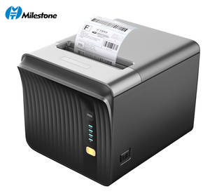 Tinggi pencetakan kecepatan 250 mm/s 80mm Penerimaan Termal Printer Pos Printer wifi bluetooth serial opsi USB Printer desktop