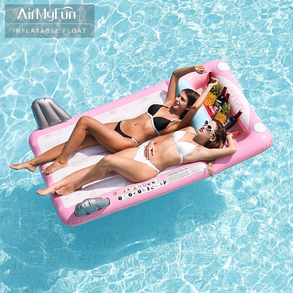 Airmyfun Pink Car mattress Inflatable Swimming Pool Float Island For Adult
