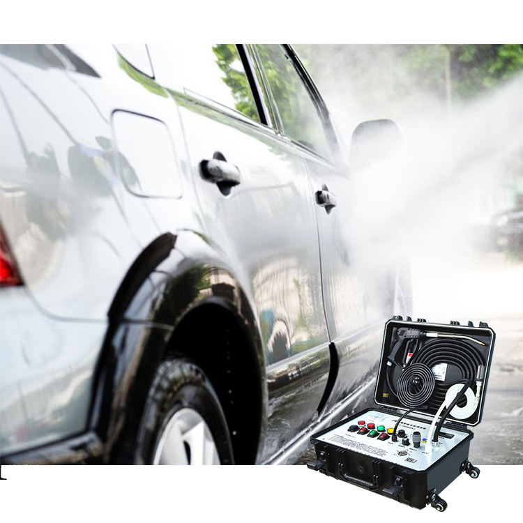 Best Customized 110V/220V High Pressure 8Bar Cold Hot Water 30S Strong Steam Output Cleaner Mobile Automatic Car Wash Brushes