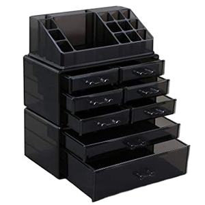 Inspired Lipstick Acrylic Organizer/Holder in Black Makeup/Vanity Organizer