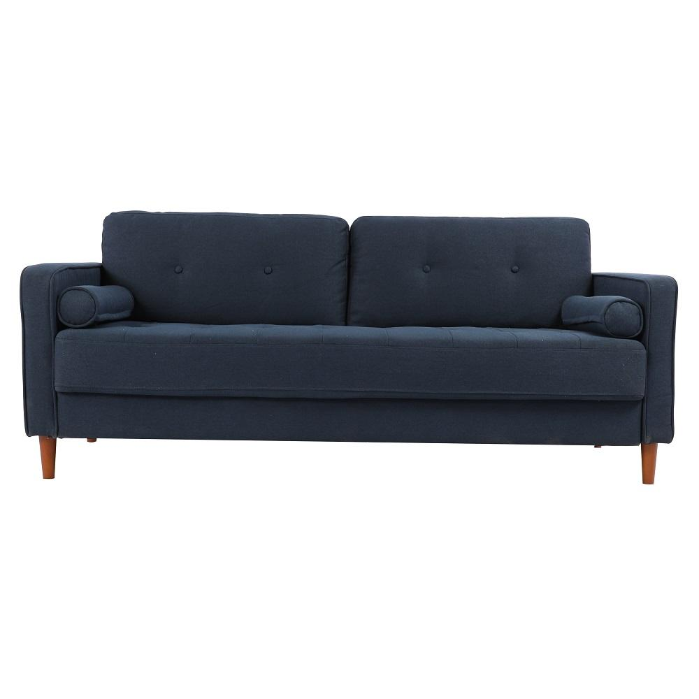 Mid-Century Modern Tufted Bench Loveseat Fabric Couch Sofa