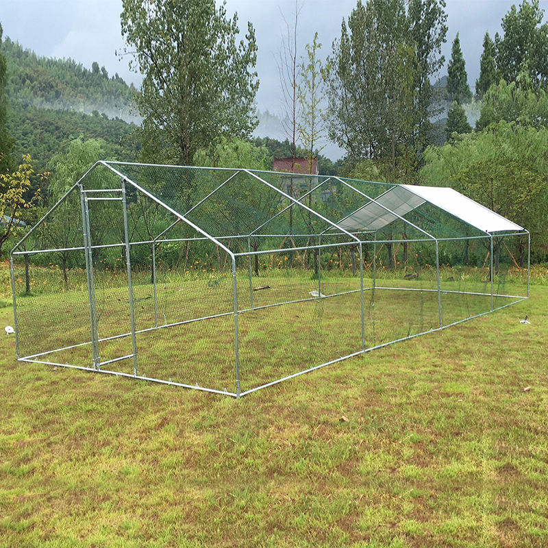 Large hen and chicken metal cages for poultry farm outdoor