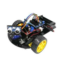 Smart Robot Car 2WD Chassis Kit with R3 board ,Ultrasonic Mo