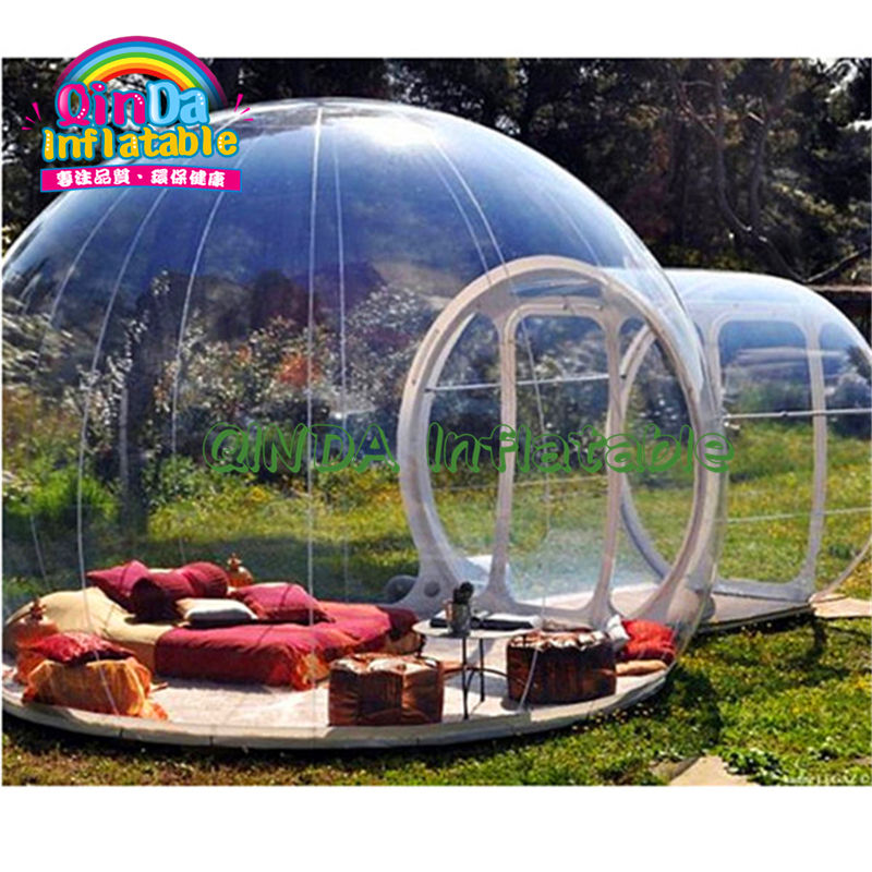 Custom outdoor inflatable+igloo inflatable transparent casa bubble igloo tent toy