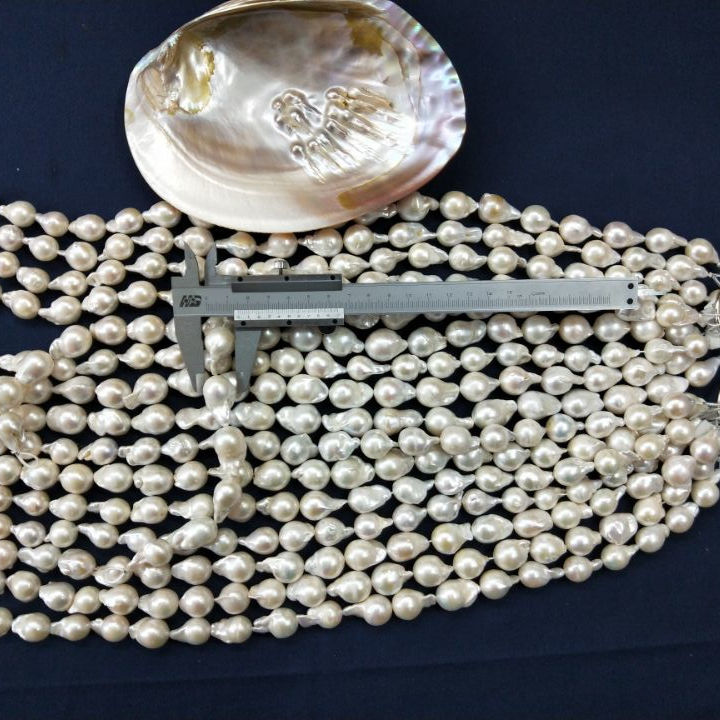 15 Inch Baroque Pearl Irregular 16mm Large Size Freshwater Loose Pearl Beads For DIY Jewelry Making