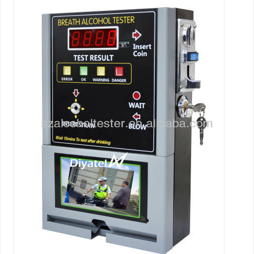 vending machines coin operated breath alcohol tester alcohol analyzer china supplier manufacturer