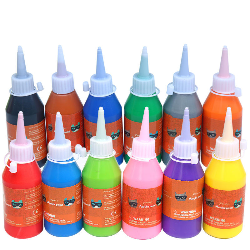 High Quality Professional Easy washing Safety 100ml Multiple colors Acrylic Paint 3d Drawing pigment ink Wholesale