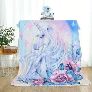 Customized Sublimation Blanket Digital Print Flannel Blanket Photo Transfer Printing Flannel Fleece Blanket