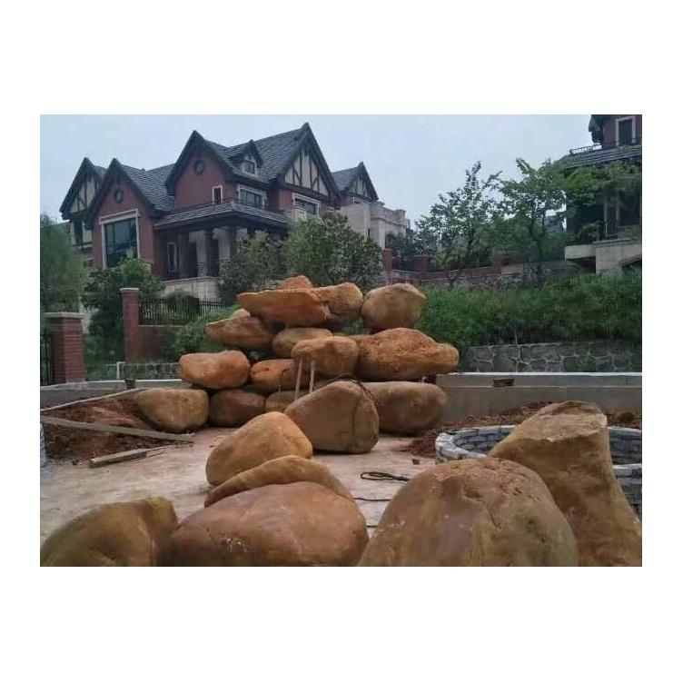 Original Golden Yellow River Rock For Garden And Fountain Landscaping Construction Project