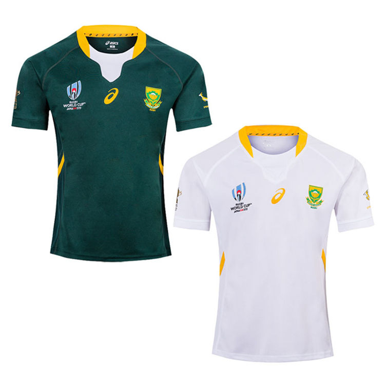 Top Selling South Africa Rugby Wear High Quality Custom Rugby Jersey