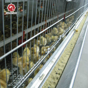 Silver star Manufacture battery H type chicken broiler cage /Broiler Raising Cage