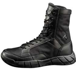 8 Inch Men's Leather Black Tactical Military Shoes Boots
