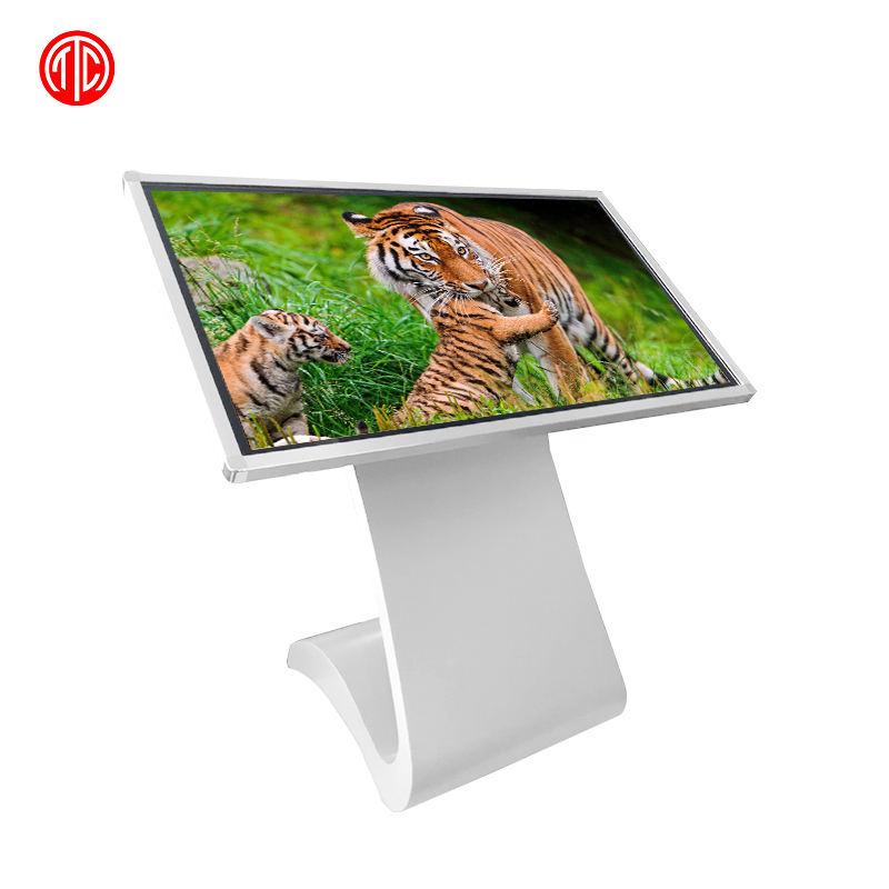 Fhd Nuovo Tipo Ultra Sottile Touch Screen Display Senza Fili 43 Pollici Paesaggio Gioco a Cristalli Liquidi di Pubblicità Digital Signage All in One chiosco