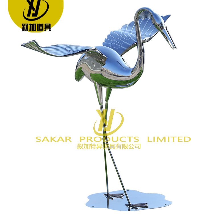 Sculture Moderne In Metallo Giant Animal Large Garden Stainless Steel Metal bird Sculpture