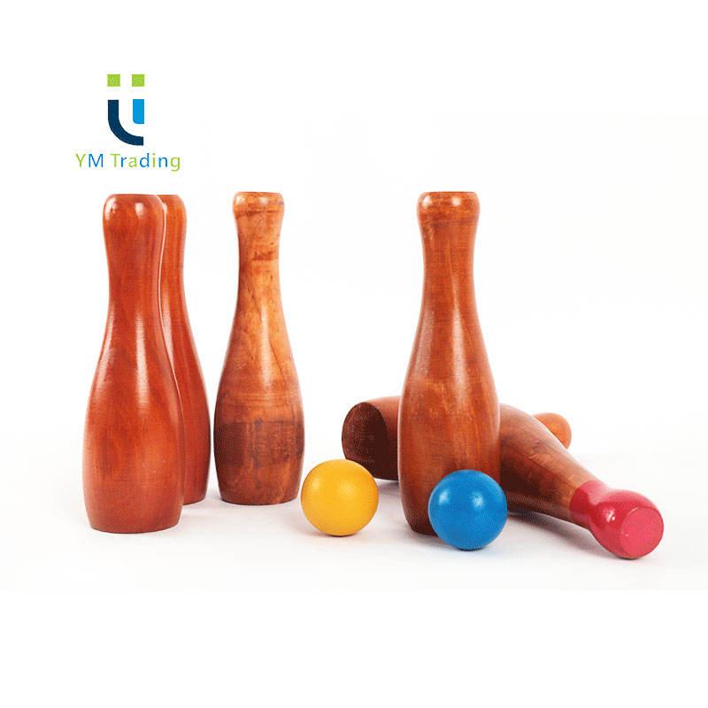 Professional Bowling Ball Wooden Bowling Set for Kids