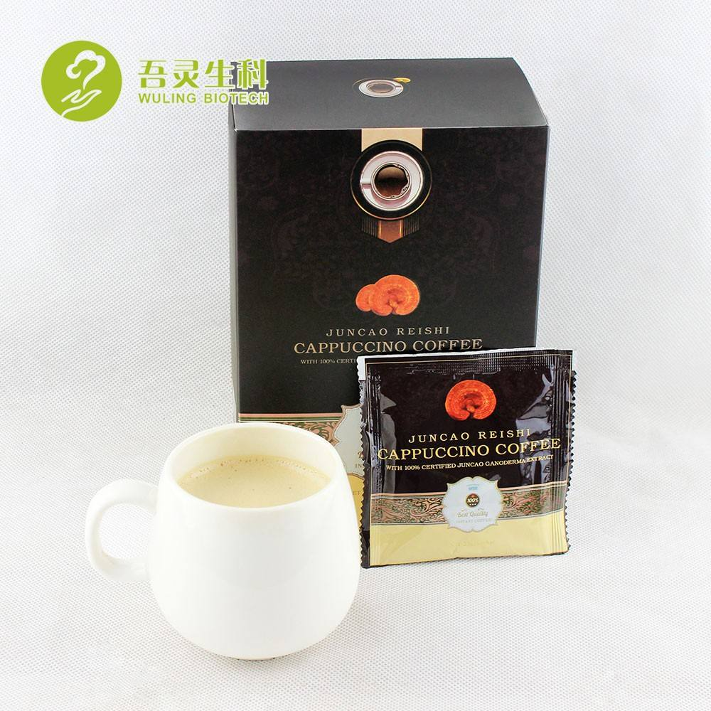 Bio Herb health Coffee with ganoderma and cordyceps Cappuccino 6 in 1 Private Label