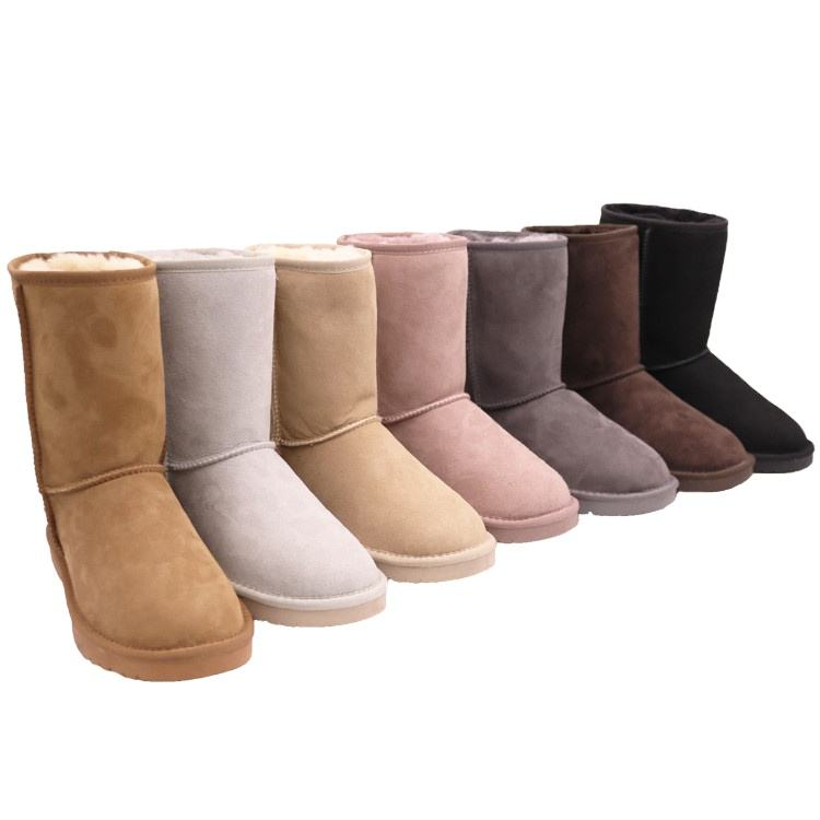 5825 Double Face Australian Sheepskin Antiskid TPR Sole Winter Factory Women Snowboots Shoes