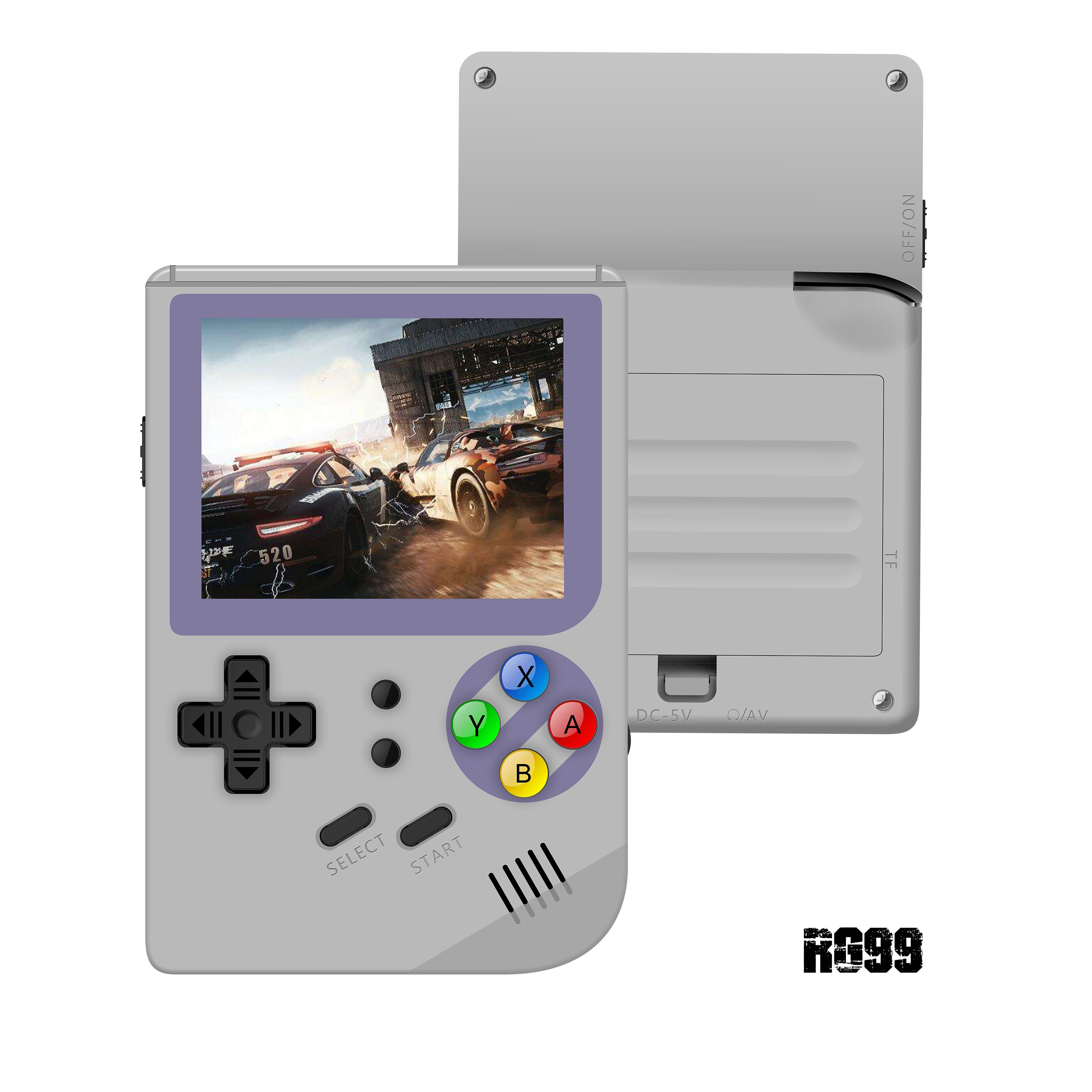 RG99 Handheld Game Console 32 Bit Retro Game Console 169 Games Support TF Card Download