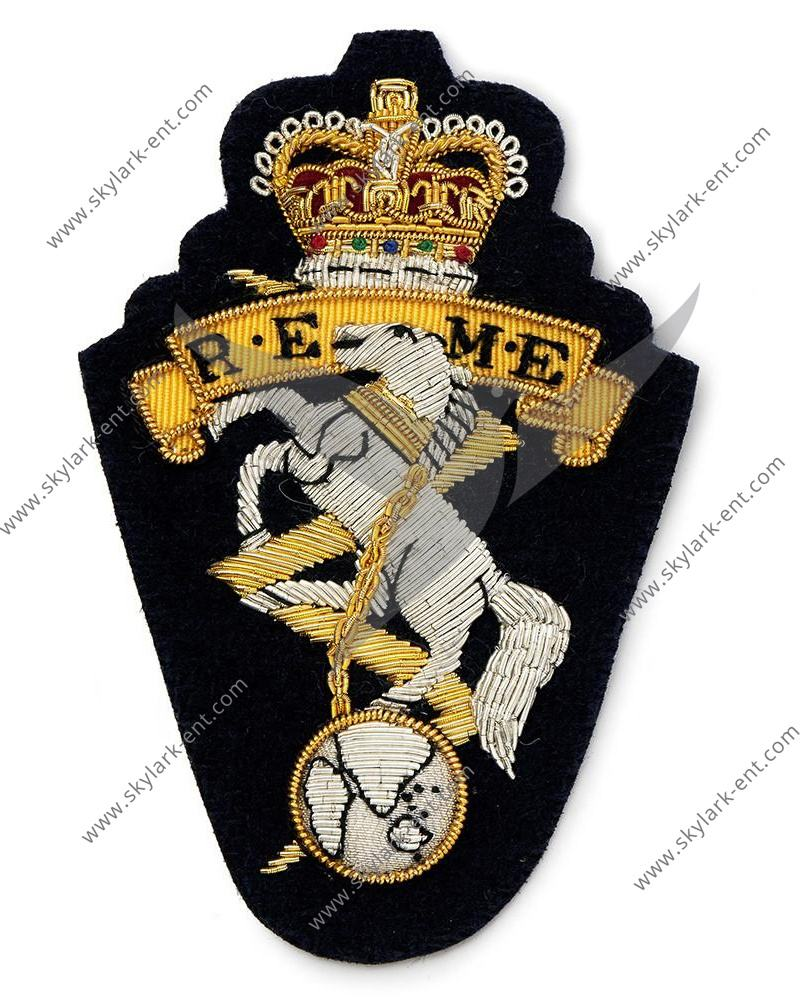 British Army REME Royal <span class=keywords><strong>Elettrico</strong></span> e Ingegneri Meccanici Ricamato Crest Distintivo Giacca <span class=keywords><strong>Patch</strong></span>