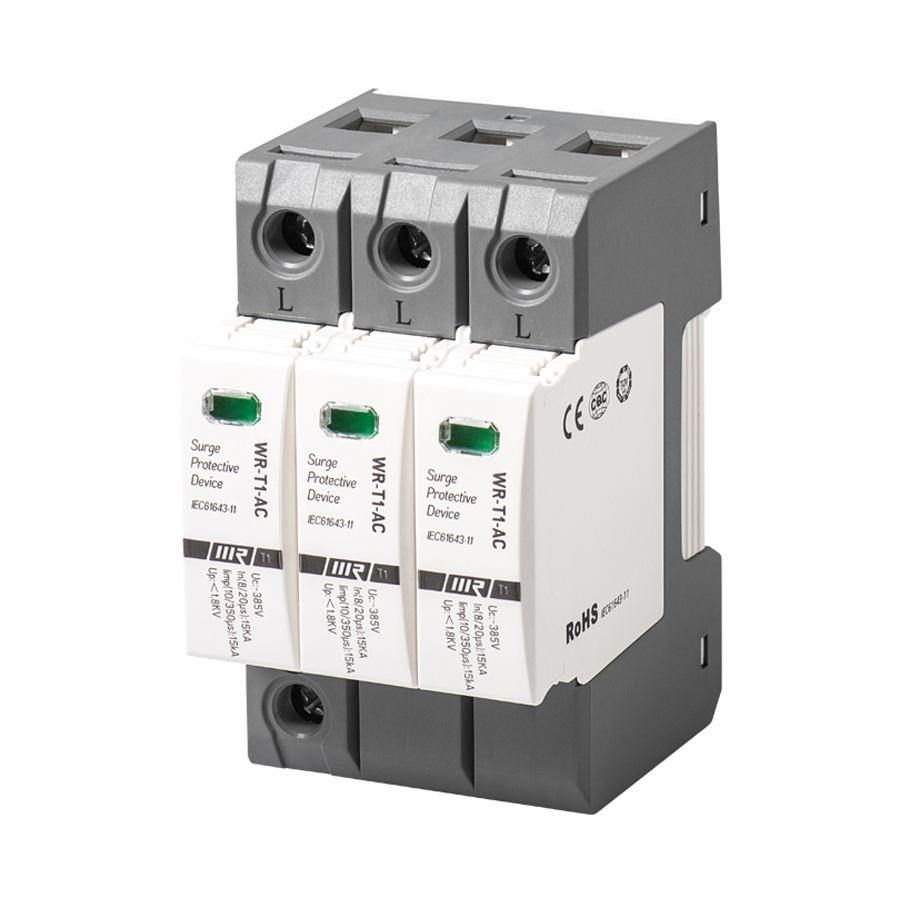 China Supply AC Power SPD In 15kA Surge Voltage protection