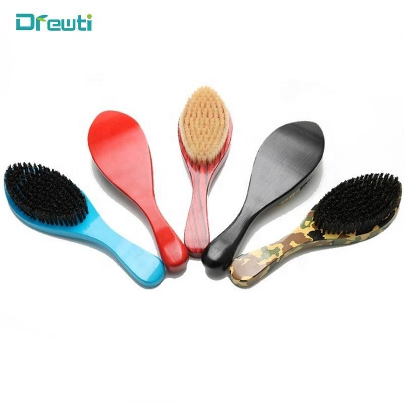 Wave Beard Brush Distributes Balm and Oil for Growth and Styling Comes with Brush Cleaning Tool