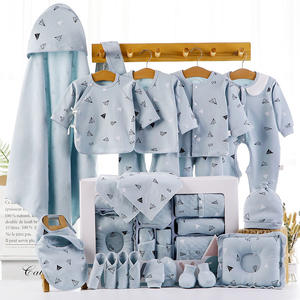 China wholesale quality boutique luxury plain newborn 100% cotton baby sets clothes clothing summer winter unisex suits